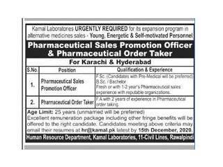 Pharmaceutical Sales Promotion / ORDER TAKER ( Karachi- Hyderabad )