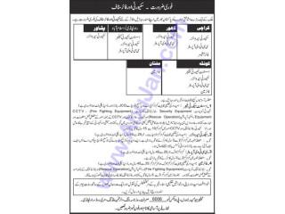 Security Supervisor // CCTV Operator // Fire Officer // Fireman -(Peshawar,Quetta,Karachi,Lahore,Rawalpindi,Ismabd)