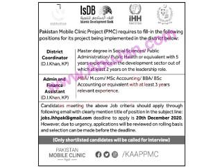 DISTRICT COORDINATOR // ADMIN AND FINANCE ASSISTANT ( D.I Khan KPK)