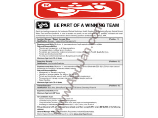 ASSISTANT MANAGER/DEPUTY MANAGER MESS // SUPERVISOR SECURITY// TRAINEE EXECUTIVE -- QARSHI