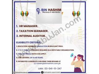 HR MANAGER // TAXATION MANAGER // INTERNAL AUDITOR ( BIN HASHIM SUPERMARKET)