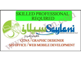 TRAINED PROFESSIONAL REQUIRED ( CCNA,MS OFFICE,GRAPHIC DESIGNING,WEB MOBILE APP DEVELOPMENT(MERN) - سیلانی ویلفیر - Saylani welfare