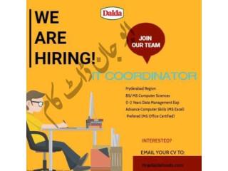 IT COORDINATOR - Dalda - |Jobs in Hyderabad |