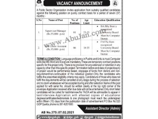 SUPERVISOR MANAGER //CALL CENTER ASSISTANT - |Jobs in Quetta|
