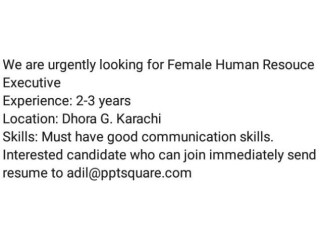 HUMAN RESOURCE EXECUTIVES (Female) // PPT SQUARE |Jobs in Karachi |