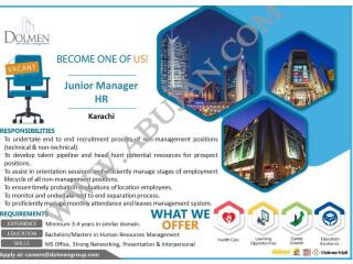 JUNIOR MANAGER HR - Dolman Real Estate Management - |Jobs in Karachi | |Jobs in Pakistan| |HR Job|