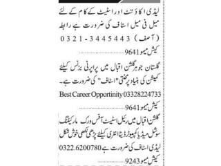 ESTATE AGENTS // LADY ACCOUNTANT// ESTATE COMMISSION STAFF// SOCIAL MEDIA COMPUTER OPERATOR REAL ESTATE-  Jobs in Karachi    Real Estate Job 