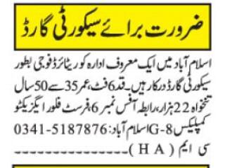 Security Guard - 22,000 Salary