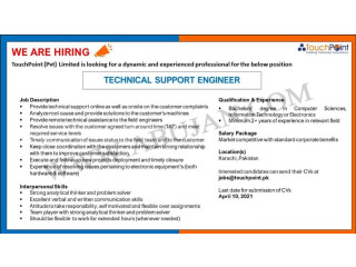 TECHNICAL SUPPORT ENGINEER// SOFTWARE PRODUCT DEVELOP// PRODUCT DEVELOP CONSULTANT//PRE SALES & SUPPORT // CUSTOMER SUPPORT- Touch Point Pvt Limited