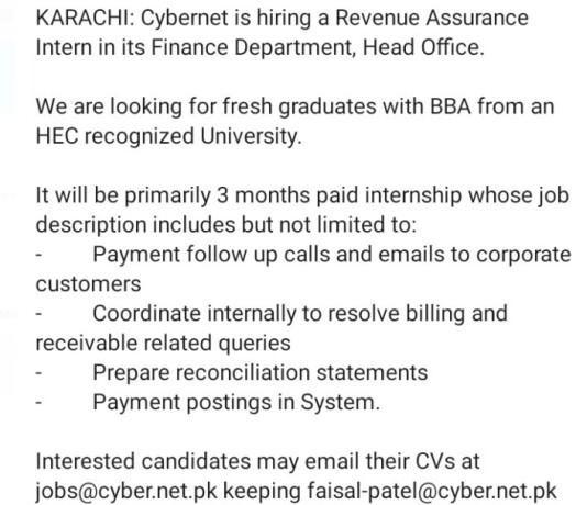 revenue-assurance-intern-cyber-net-jobs-in-karachi-jobs-in-pakistan-cybernet-job-big-1