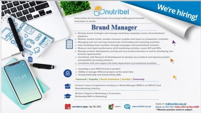 brand-manager-nutribel-jobs-in-lahore-jobs-in-pakistan-big-0