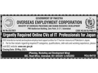 IT PROFESSIONAL REQUIRED (Japan)- |Jobs in IT| |Jobs in Japan|