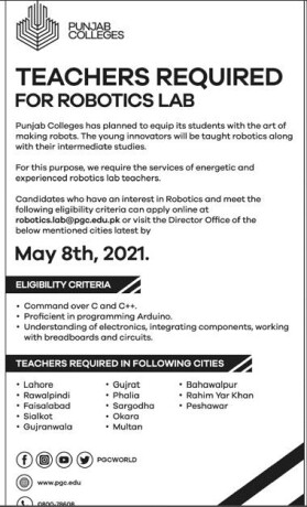teachers-required-for-robotics-lab-jobs-in-punjab-colleges-jobs-in-punjab-big-0