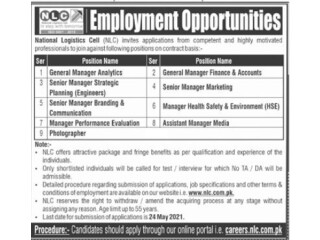 National Logistics Cell NLC -  Jobs in Islamabad     Jobs in NLC  