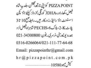 RIDERS // KITCHEN ASSISTANT - PIZZA POINT - | Restaurant Jobs|