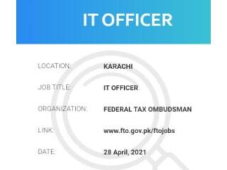 IT OFFICER -   IT Jobs    Federal Tax Ombudsman  - Faisalabad, Karachi, Lahore, Sibbi ,Makran , Nasirabad, Zhob, Quetta,