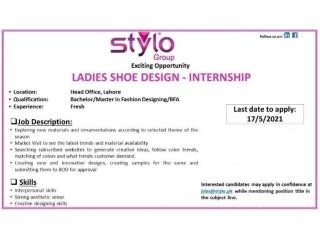 LADIES SHOE DESIGN - INTERNSHIP - STYLO GROUP -| Jobs in Lahore| Internship in Lahore |