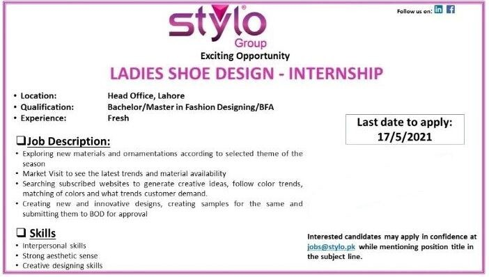 ladies-shoe-design-internship-stylo-group-jobs-in-lahore-internship-in-lahore-big-0