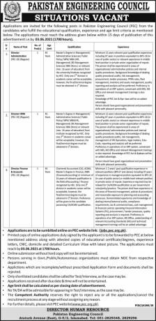 director-administration-director-hrm-director-finance-accounts-pec-pakistan-engineering-council-jobs-in-pecjobs-in-islamabad-big-0