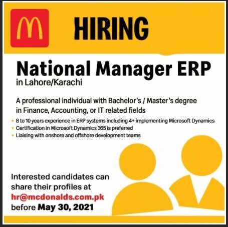 national-manager-erp-mcdonalds-jobs-in-macdonalds-jobs-in-karachijobs-in-lahore-big-0