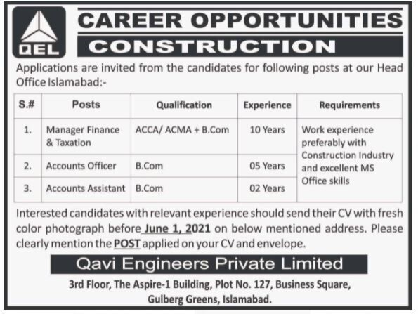 manager-finance-taxation-accounts-officer-accounts-assistant-qel-construction-jobs-in-islamabadjobs-in-pakistan-big-0