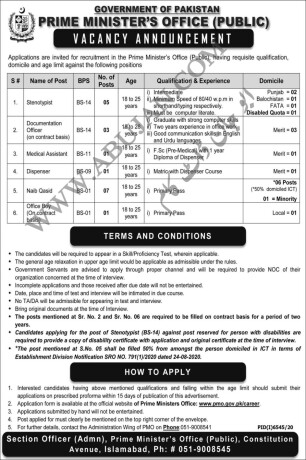 stenotypist-doc-officermedical-assistantdispensernaib-qasid-office-boy-prime-ministers-office-government-job-in-pakistan-big-0