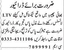 driver-ltv-textile-mill-bhai-pheero-bayy-byro-jobs-in-lahore-jobs-in-pakistan-big-0