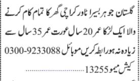 homewokers-required-baseera-towers-domestic-jobs-in-karachi-jobs-in-pakistan-big-0