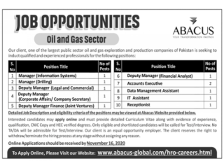 OIL&GAS Jobs Receptionist/ Managers Information ,System, Drilling, Legal ,Corp Affair,Finance/ Account/ IT Ass/ DataManagement