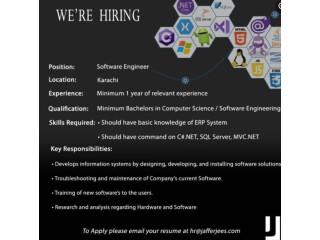 Software Engineer- Jaffer Jees - | Jobs in Karachi| | Jobs in Pakistan|