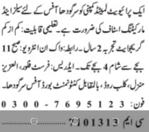 sales-marketing-staff-private-limited-company-sarghodha-jobs-in-private-limited-company-jobs-in-sarghodha-jobs-in-pakistan-big-0