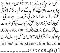 driver-clerk-fresh-computer-engineer-jobs-in-islamabad-jobs-in-rawalpindi-big-0