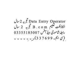 DATA ENTRY OPEARTOR -   Jobs in Rawalpindi   Jobs in Islamabad 