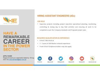 Assistant Engineers (AEs)- Karachi Electric KE- | Jobs in KE| | Jobs in Karachi|