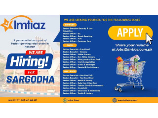 Imitiaz Store Hiring ( Multiple Positions) - | Jobs in Sargodha|| Jobs in Pakistan|| Jobs in Imtiaz Store|