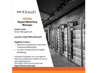 Digital Marketing Manager // Lead IT Operations// Textile Designer- Khaadi - | Jobs in Khaadi|| Jobs in Karachi|