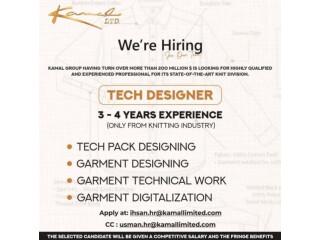 Tech Pack Designing // Garment Designing // Garment Technical Work// Garment Digitalization // Tech Designer-Kamal Group | Jobs in Lahore|