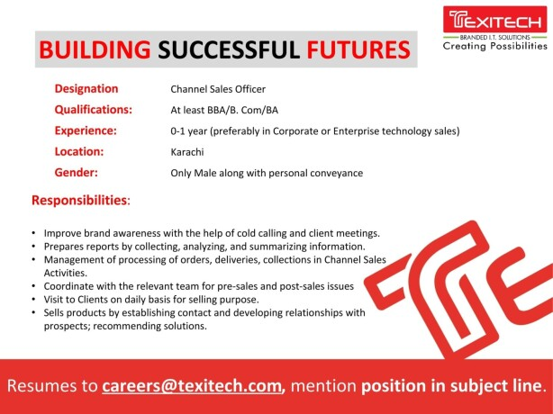 it-resident-engineer-office-credit-collection-control-channel-sales-officer-texi-tech-jobs-in-karachi-big-0