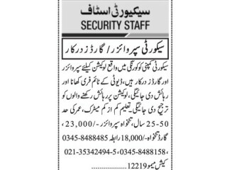 SECURITY SUPERVISOR// GUARDS REQUIRED- |Jobs in Karachi || Jobs in Pakistan || Latest Jobs in Karachi 2021|
