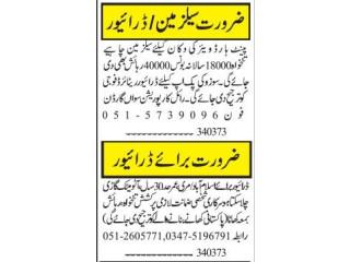 SALESMAN// DRIVER ( Suzuki Pickup)/// | Jobs in Islamabad| | Latest Driver Jobs in Islamabad 2021| Driver Jobs in Rawalpindi|