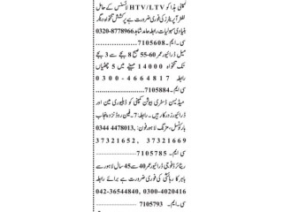 DRIVERS ( 4 Positions)LTV, HTV// LIFT OPERATOR// DELIVERYMAN- |Jobs in Lahore Driver Jobs in Lahore||Driver Jobs| Home Driver Jobs in Lahore 2021