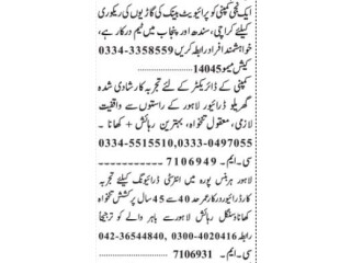 DRIVERS (2 Positons)// CAR RECOVERY- |Company Driver Jobs in Lahore Today|| Driver Jobs Lahore|