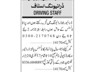 Drivers ( 2 Positions)- |Jobs in Karachi ||Driver Jobs in Pakistan | | Home Driver Jobs in Karachi 2021| |Driver required in Karachi|