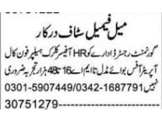HR Officer//Phone Operator//Helper//Clerk//Office Boy required