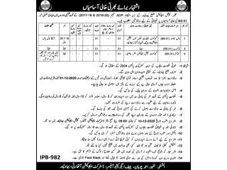 Govt Job-( کنڈ کٹرخاکروب نائب قاصد ) BS-01- (Conductor, Khakroob, Naib Qasid)